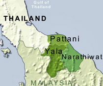 Pattani Thailand Map.Voa Standard English Insurgents Target State Schools In Southern