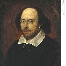 A famous, but disputed, portrait of William Shakespeare at the National Portrait Gallery in London