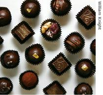 Examples of Jane Morris' chocolate creations