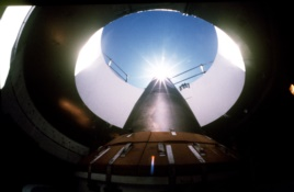 This intercontinental ballistic missile points skyward from its position in a silo. (AP PHOTO)