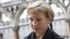 Marina Litvinenko, the widow of murdered KGB agent Alexander Litvinenko, leaves the High Court in central London, July 28, 2015.