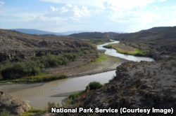 The Rio Grande river in Big Bend National Park