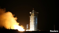 China launched the world's first quantum satellite. It was launched in Gansu Province, China, August 16, 2016. (PHOTO China Daily/via REUTERS)