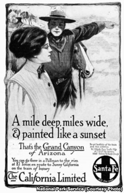 A Santa Fe Railroad magazine advertisement, 1910